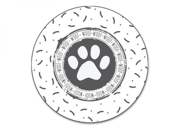 שטיח פי וי סי לכלבים דגם כף רגל