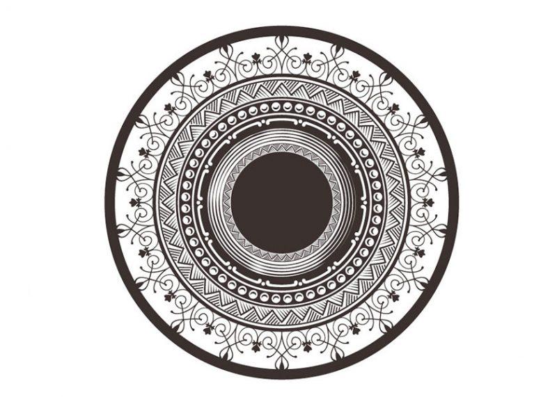 מגנט מעוצב לדלת דגם שחור לבן