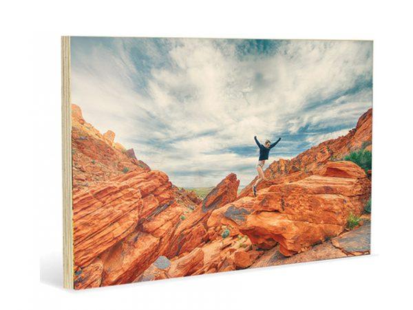 """תמונת קיר מעץ 20/30 ס""""מ"""