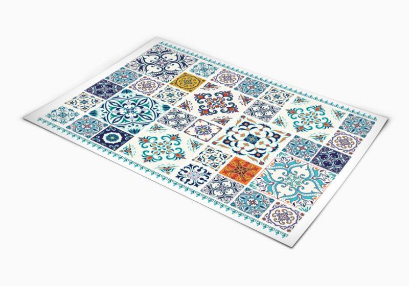 שטיח פי וי סי דגם כחול אותנטי