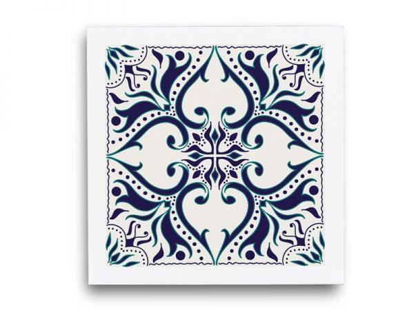סט תחתיות לכוסות מפי וי סי דגם כחול מלכותי