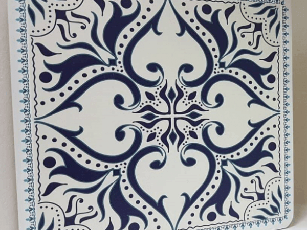 תחתית לסיר מעץ דגם כחול רויאל