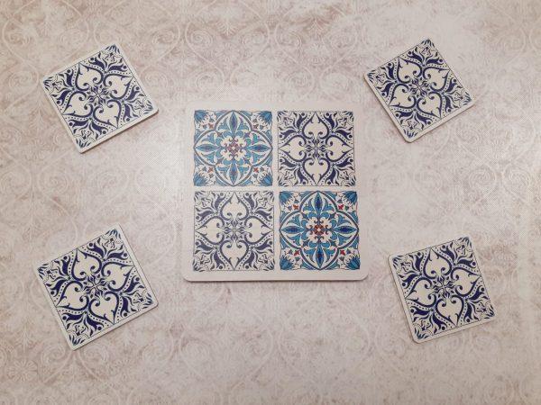 מיקס אנד מאץ' מיקס אריחים וכחול מלכותי