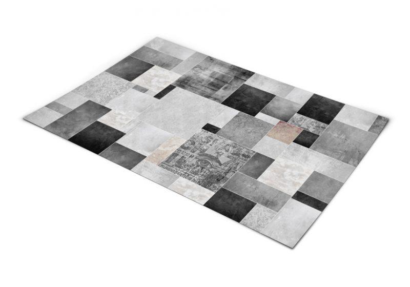 שטיח פי וי סי למטבח דגם קרמיקה