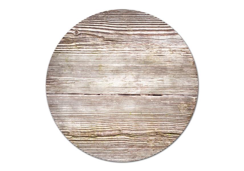 מפה פי וי סי עגולה דגם עץ מעורב