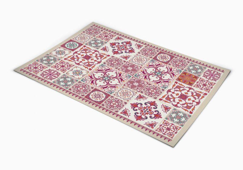 שטיח פי וי סי למטבח דגם ורוד אותנטי