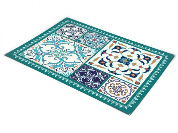 שטיח פי וי סי למטבח דגם טורקיז