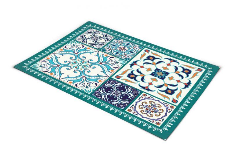 שטיח pvc למטבח דגם טורקיז