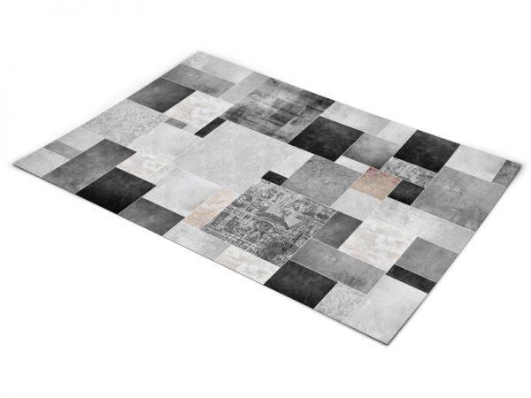 שטיח פי וי סי לסלון דגם מחוספס