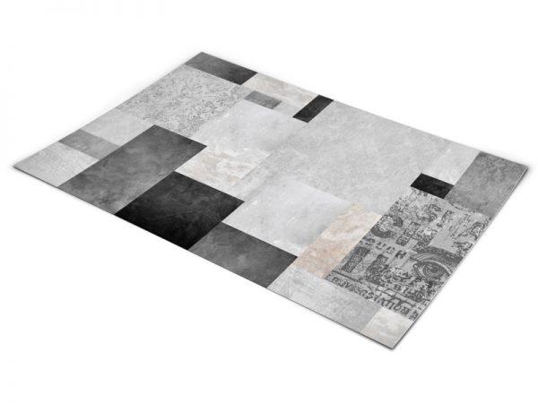שטיח פי וי סי לסלון דגם שיש