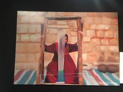 ציור מודפס על תמונת קיר מעץ של האמנית עדן ירושלמי
