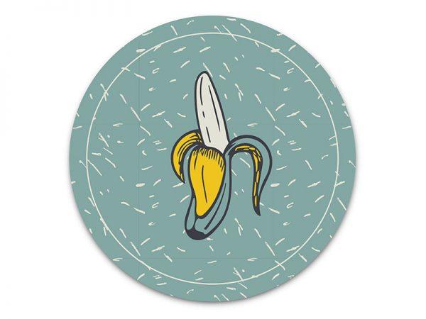 מפה פי וי סי עגולה דגם בננה