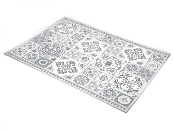 שטיח פי וי סי למטבח דגם אותנטי אפור