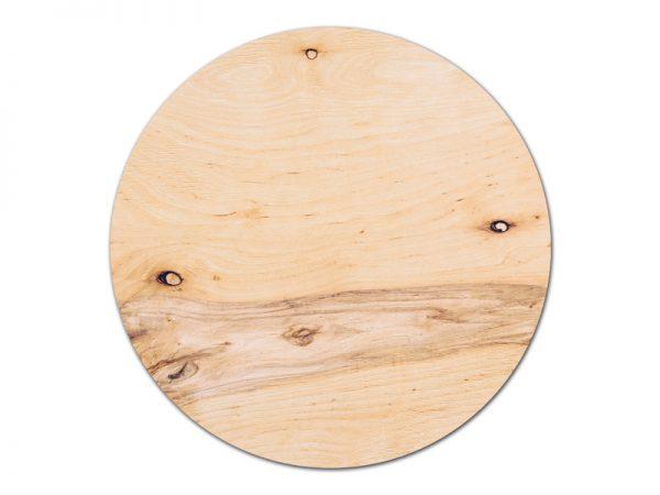 מפה פי וי סי עגולה דגם עץ מבוקע