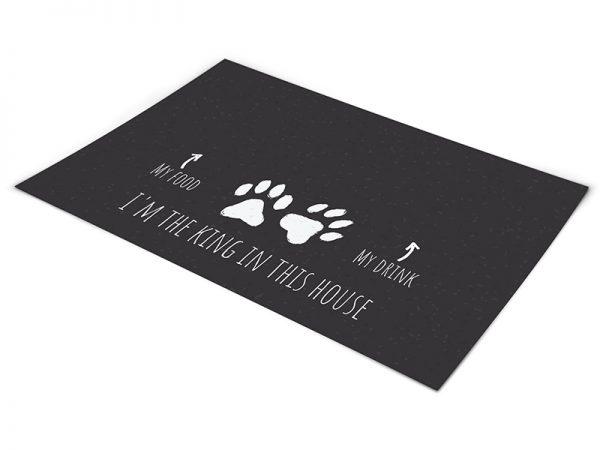 שטיח פי וי סי לכלבים דגם המלך של הבית שחור בהנחה