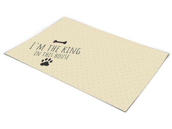 שטיח פי וי סי לכלב דגם המלך של הבית