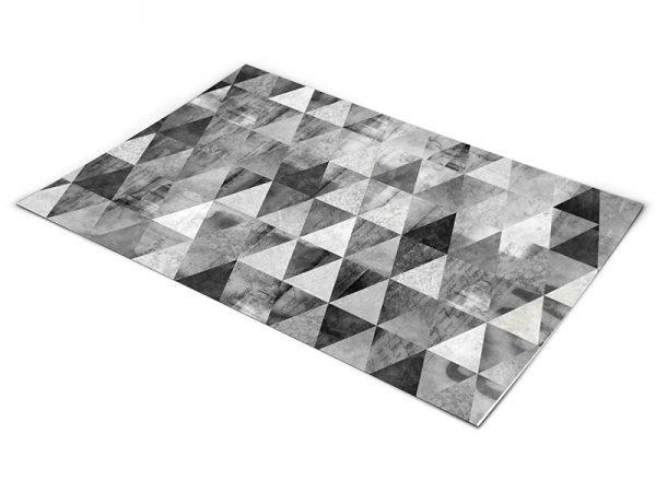 שטיח פי וי סי לסלון דגם משולשים