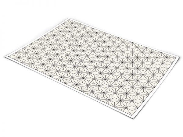 שטיח פי וי סי לסלון דגם גאומטרי