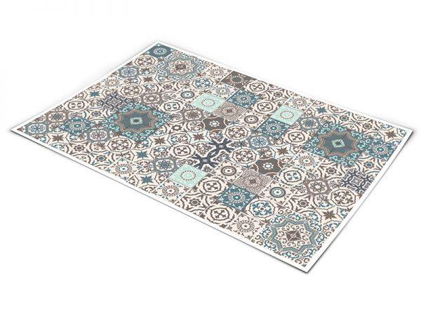 שטיח פי וי סי למטבח דגם אריחים בצבעים קולקציה חדשה