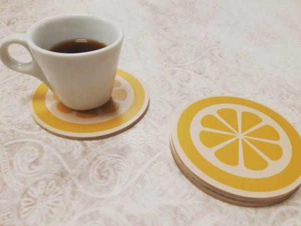 סט תחתיות לכוסות דגם לימונדה