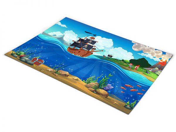 שטיח פי וי סי לחדר ילדים דגם איי איי קפטן