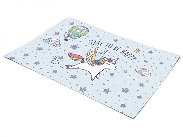 שטיח פי וי סי לחדר ילדים דגם חד קרן
