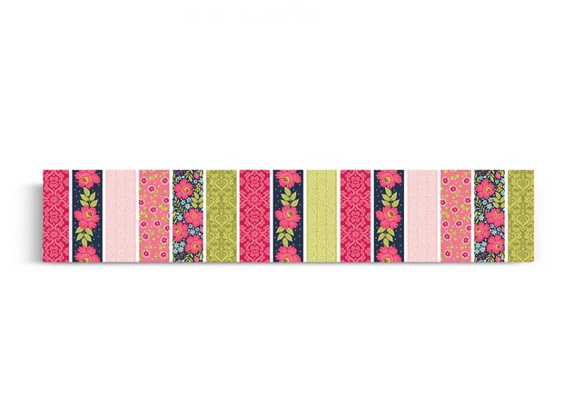 ראנר לשולחן דגם פרחים בגוונים