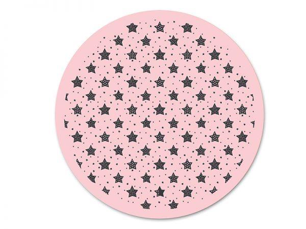 שטיח פי וי סי עגול לחדר ילדים דגם כוכבים מספר 1