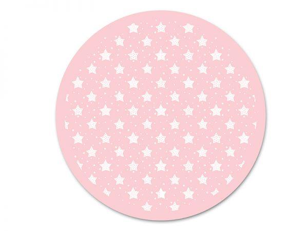 שטיח פי וי סי עגול לחדר ילדים דגם כוכבים מספר 3