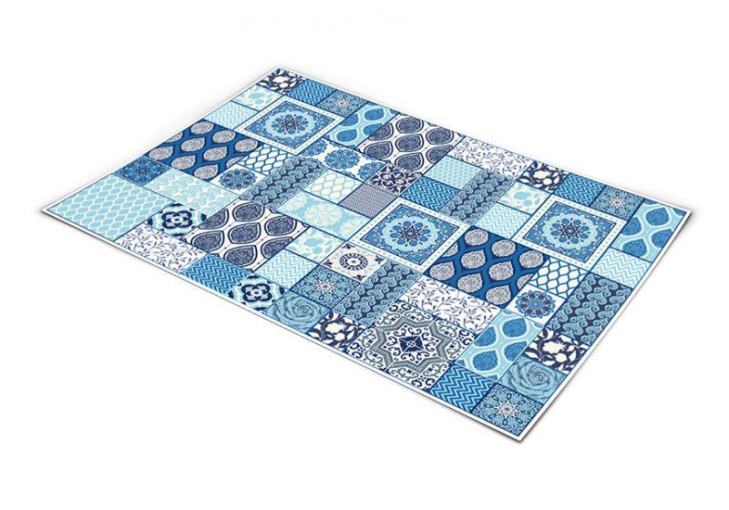 שטיח פי וי סי למטבח דגם אריחי קרמיקה