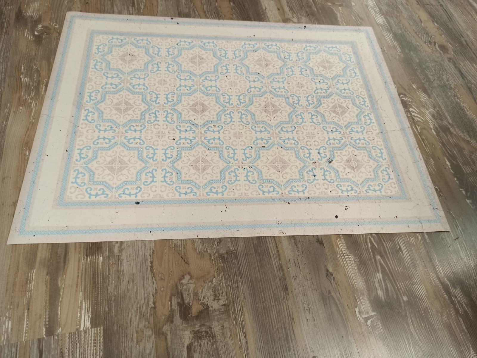 שטיח PVC למטבח עיצוב כפרי
