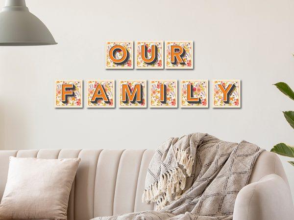 אותיות לקיר משפחה דגם Family מספר 2