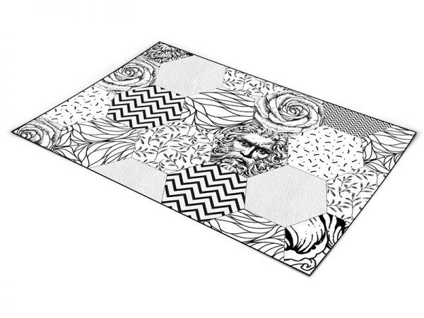 שטיח פי וי סי לסלון דגם פוסידון