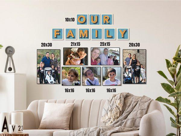 קיר משפחה דגם FAMILY