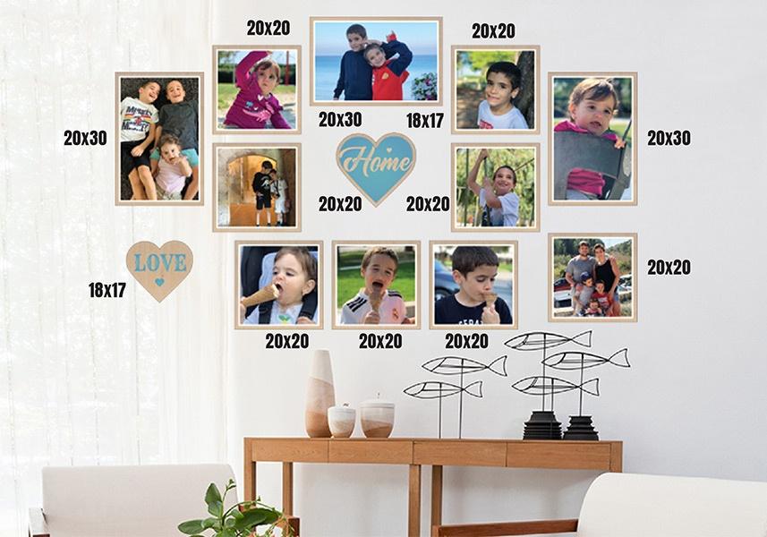 קיר משפחה דגם אהבה