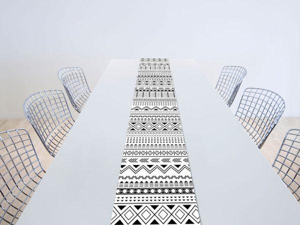 ראנר לשולחן בסגנון נורדי