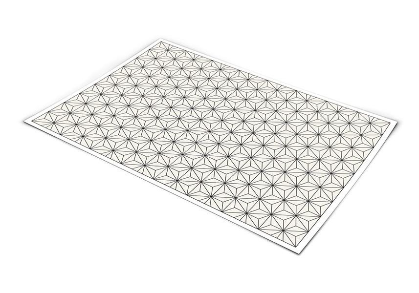 שטיח פי וי סי למטבח דגם צורות גאומטריות