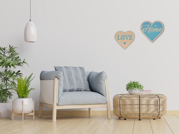סט לבבות לקיר HOME&LOVE