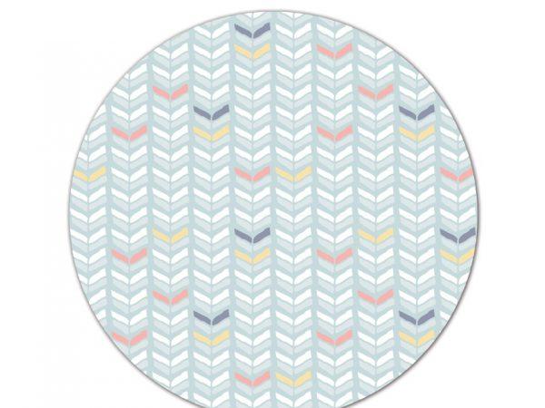 שטיח פי וי סי עגול לחדר ילדים דגם חצים בתנועה