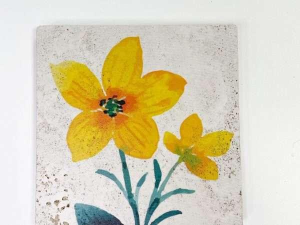 תחתית לסיר מאבן דגם פרח