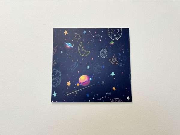 תמונת קיר לחדר ילדים דגם חלל
