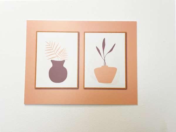 תמונת קיר לסלון לסלון דגם אגרטלים